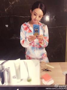 @赵丽颖: 谁捡了我的手机壳[小骨最萌了][小骨最萌了]#加油吧实习生#