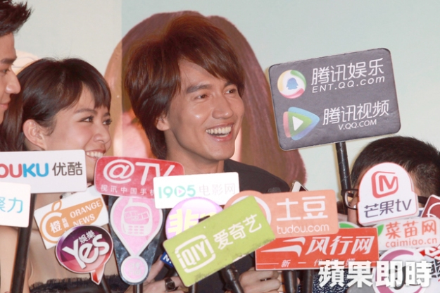 Jerry Yan being interviewed on the red carpet premiere today