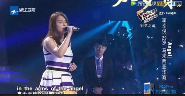 Voice of China S4 Ep 10 Battle 1 Li Xin Ni