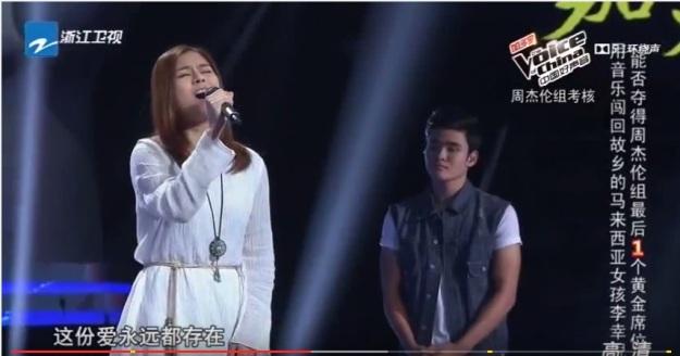 Voice of China S4 Ep 8 Duel 3 Li Xin Ni