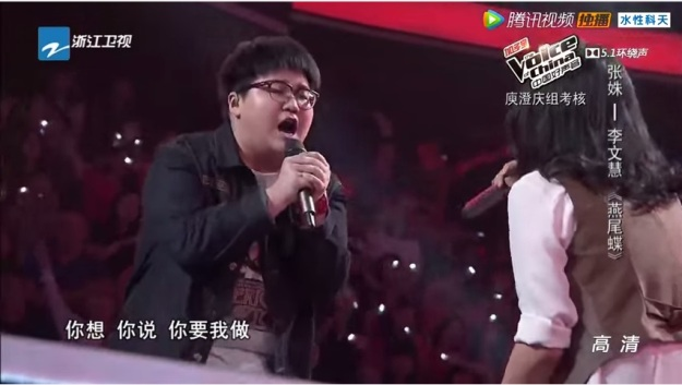 Voice of China S4 Ep 9 Battle 1 Zhang Shu vs Li Wen Hui