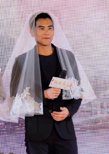 Since he couldn't attend her friend's wedding, maybe being the bride isn't a bad idea... haha!