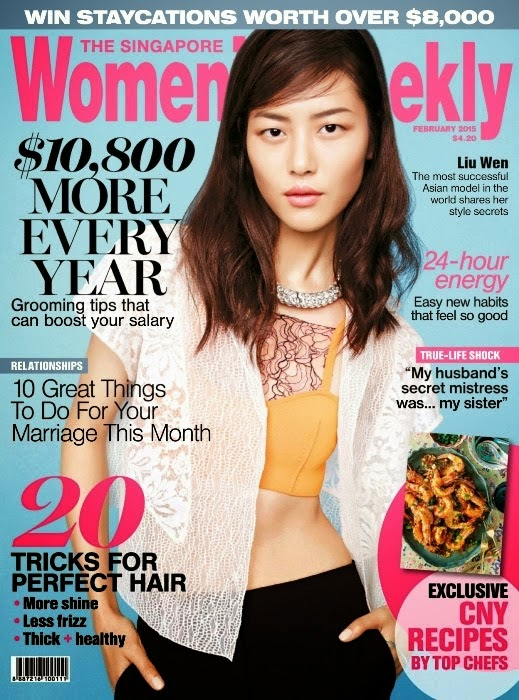 Wen Liu - Women's Weekly Magazine, Singapore, February 2015 1