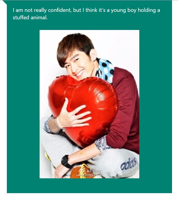 ZHANG HAN - young boy stuffed animal